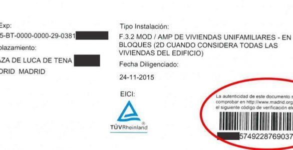 Certificado eléctrico en baja tensión